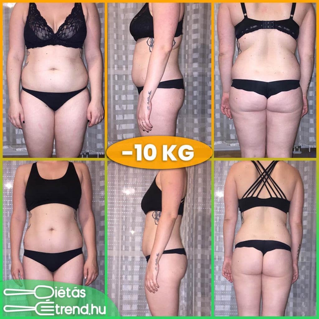 a súlycsökkenés eredménye 3 hónap